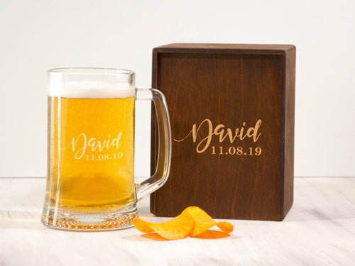 Personalized Beer Glass Mans Cave Gift Custom Beer Mug Gift for Him Husband Birthday Gift Engraved Beer Glass Boyfriend Gift Beer Glass Mug