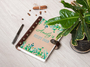 Tree Branches Art Personalized Recipe Book Acrylic Recipe Journal Christmas 2019 Gift Custom Cookbook Anniversary Gift Family Recipe Book