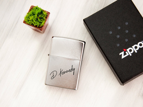 Engraved Zippo Lighter Personalized Gift for Dad Anniversary Present Custom Husband Groomsmen Brother Father Birthday Gift Handwriting