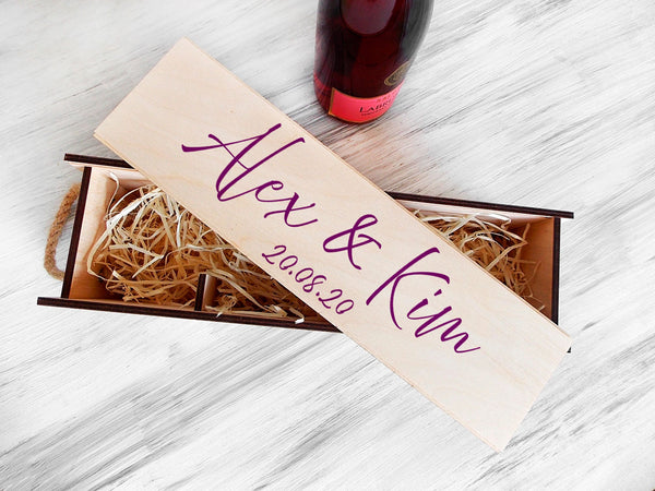 Wedding Wine Ceremony Box Wedding Wine Box Wine Capsule Wedding Gift for Couple 5th Anniversary Gift for Her Engagement Gift Wine Gift
