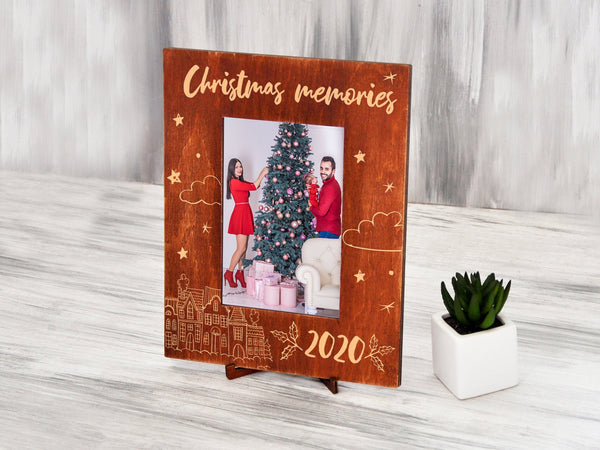 Christmas Picture Frames Wood Photo Frame Christmas Family Gift Custom Christmas Gift for Grandparents Christmas Memories 2020 Holiday Gifts