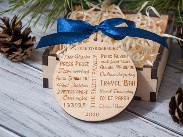 2020 Christmas Ornament, Pandemic Ornament, Quarantine Christmas Ornament, Pandemic Christmas Ornaments, Personalized Christmas Ornament