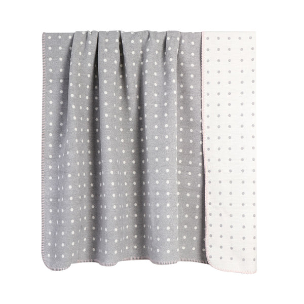 House of Little Jay | Grey Dotted Blanket