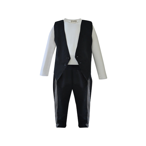 House of Little Jay | Black Waistcoat & Trousers