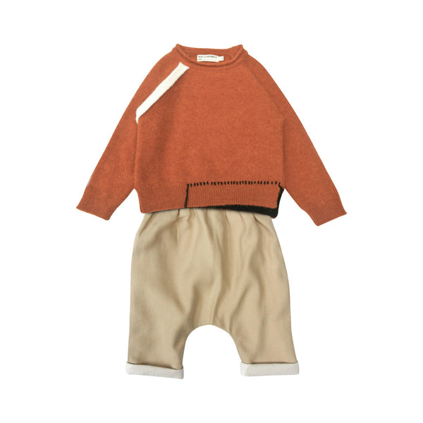 House of Little Jay | Alpaca Sweater & Beige Trouser