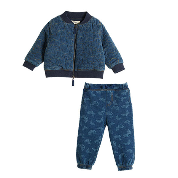 House of Little Jay | Rainbow Denim Trouser and Jacket