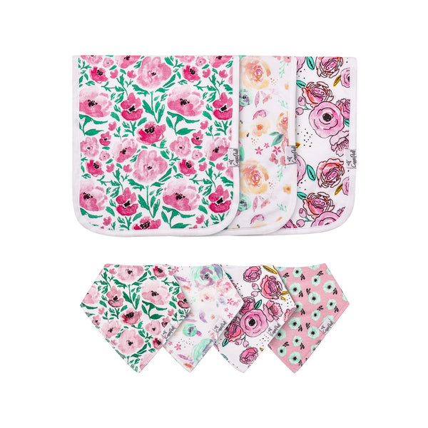 House of Little Jay | Bloom Bib & Burp Cloth Set