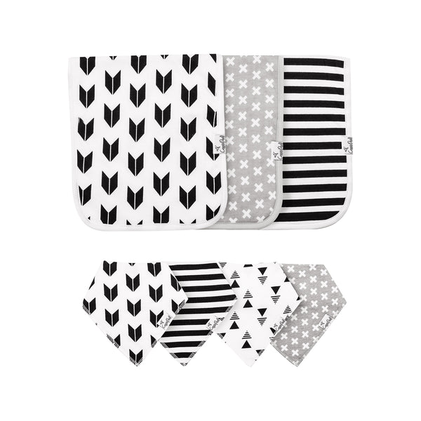 House of Little Jay | Shade Bib & Burp Cloth Set