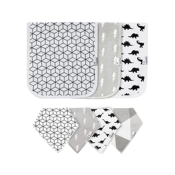 House of Little Jay | Wild Bib & Burp Cloth Set