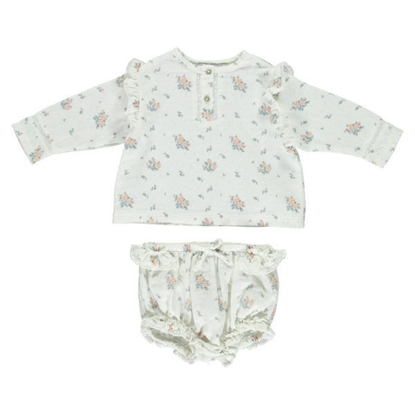 House of Little Jay | Floral Blouse & Bloomer Set