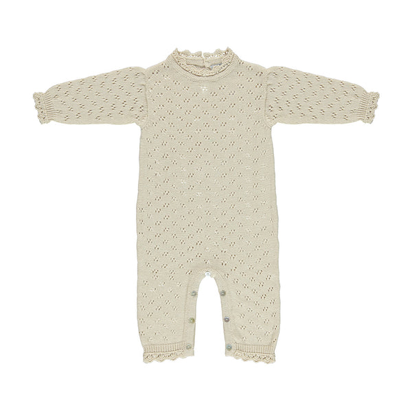 House of Little Jay | Cream Knitted Romper