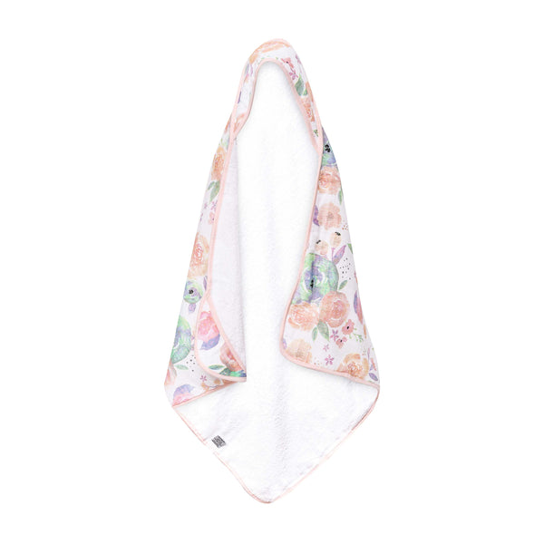 House of Little Jay | Bloom Muslin Hooded Towel