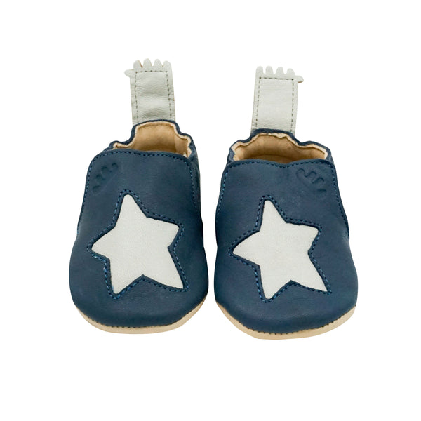 House of Little Jay | Blue Leather Star Shoes