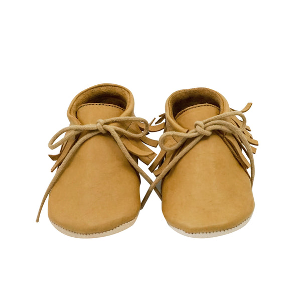 House of Little Jay | Tan Laced Shoes