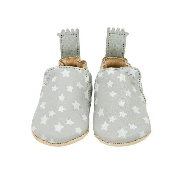 House of Little Jay | Grey Leather Shoes