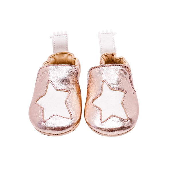 House of Little Jay | Metallic Pink Star Shoes