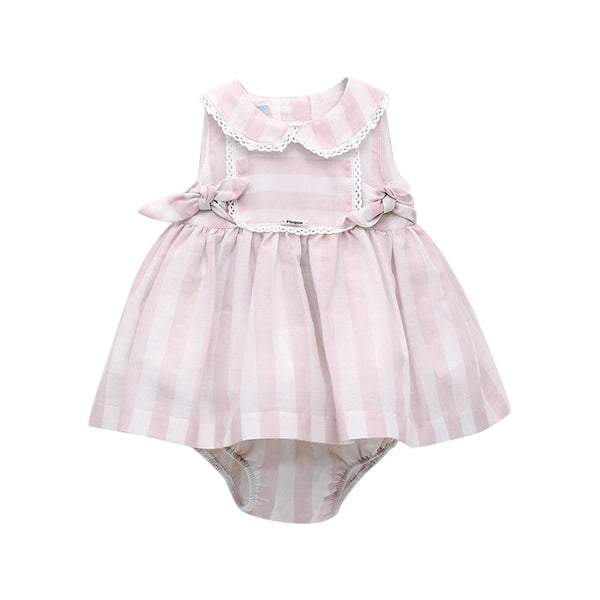 House of Little Jay | White/Pink Dress