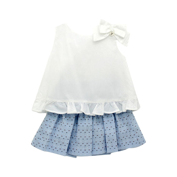 House of Little Jay | White Blouse and Dotted Skirt
