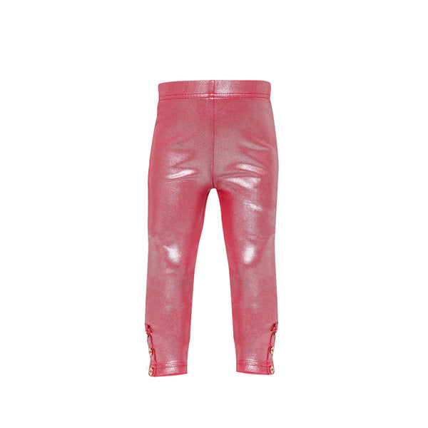 House of Little Jay | Metallic Red Leggings