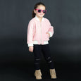 House of Little Jay | Pink Teddy Bomber Jacket