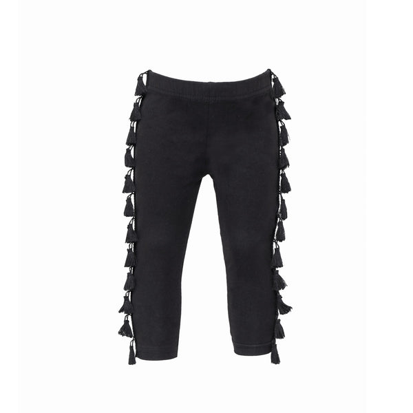 House of Little Jay | Black Tassel Leggings