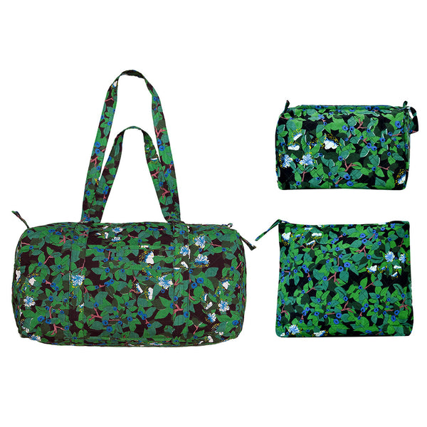 Blueberry Print Diaper Bag Set