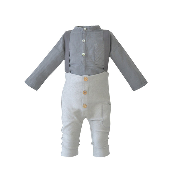 House of Little Jay | Fume Shirt & Cloudy Grey Overall