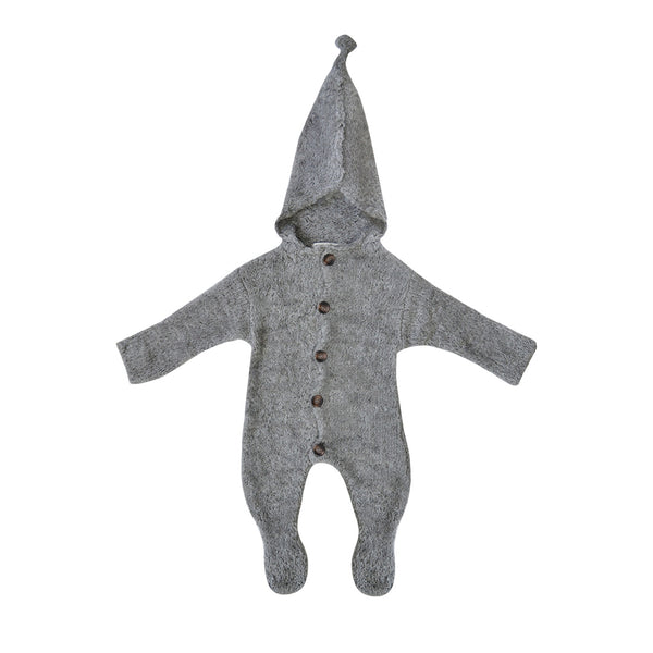 House of Little Jay | Grey Knitted Pramsuit