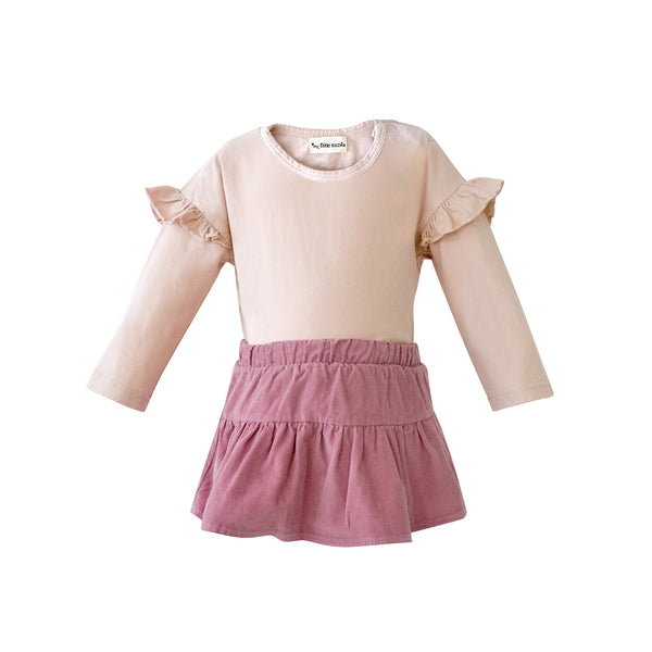 House of Little Jay | Pink Top and Corduroy Bloomer