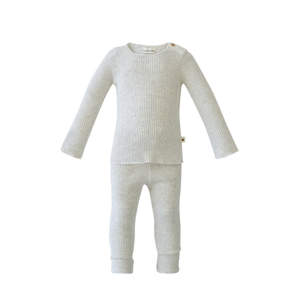House of Little Jay | Light Grey Ribbed Set