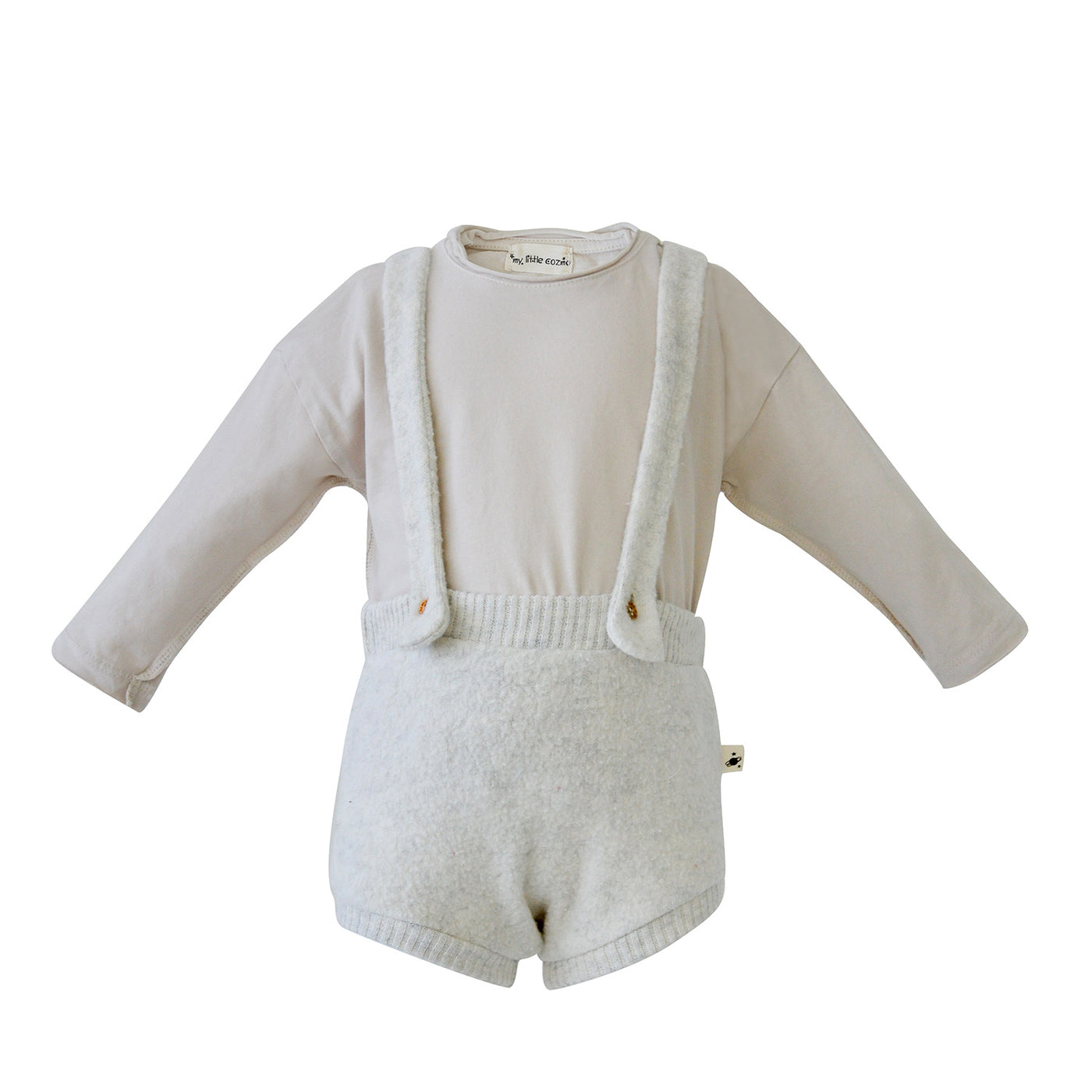 House of Little Jay | Light Grey Overall Set