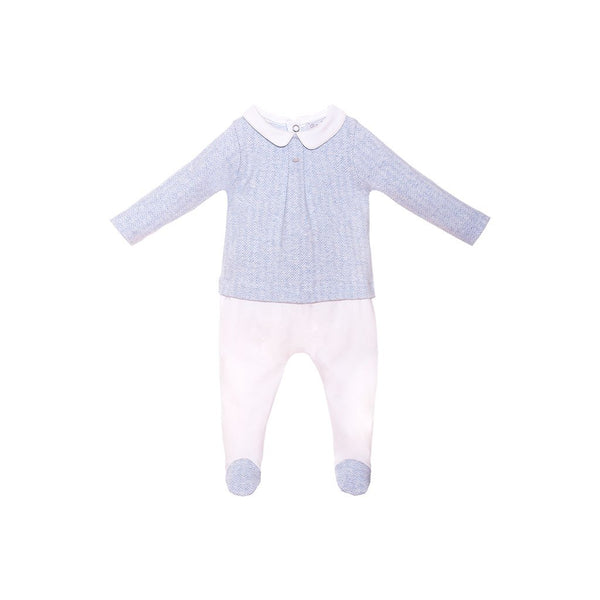 House of Little Jay | Blue Jersey Onesie