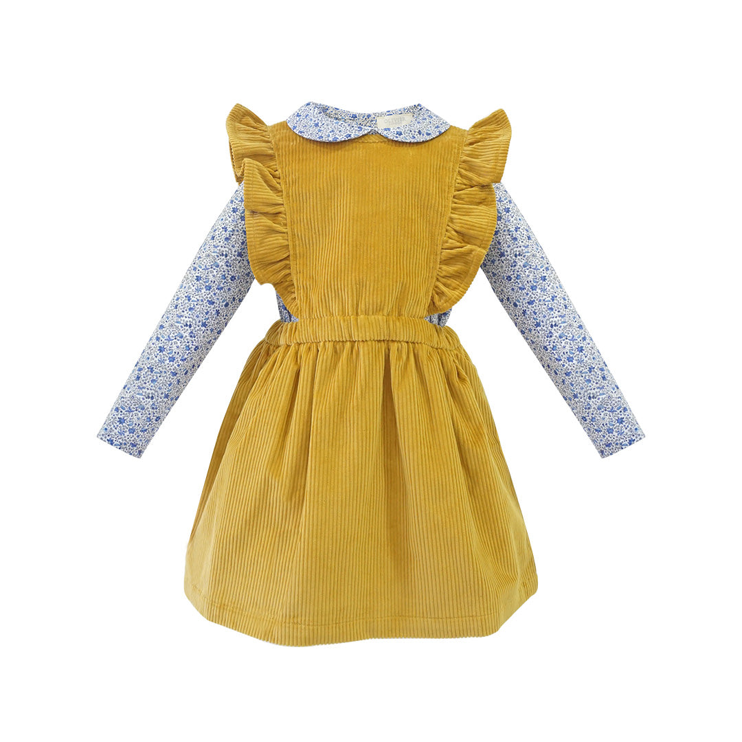 House of Little Jay | Mustard Corduroy Dress