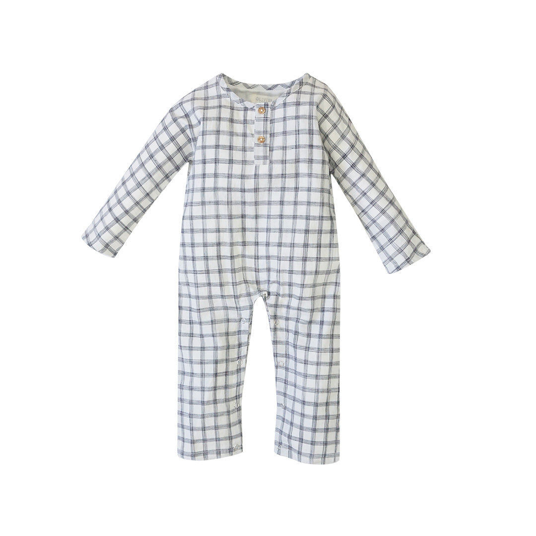 House of Little Jay | Checkered Romper