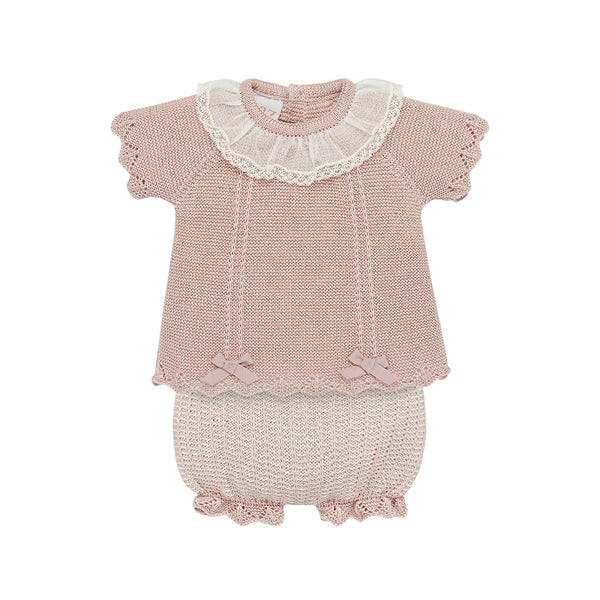 House of Little Jay | Dusty Pink Top & Bloomers