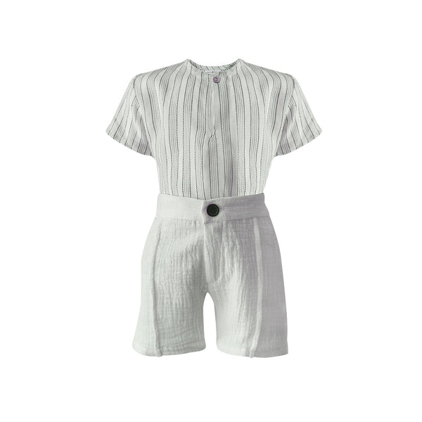 House of Little Jay | Short Sleeve Shirt & Woven Shorts