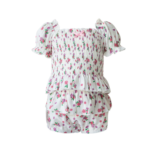 House of Little Jay | Floral Top & Ruffle Bloomer