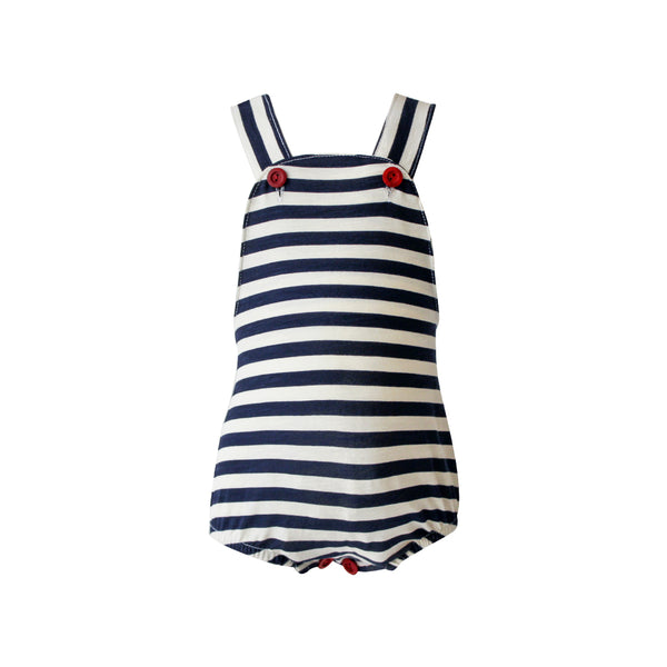 House of Little Jay | Striped Blue Romper