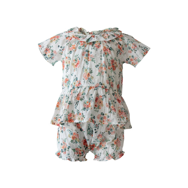 House of Little Jay | Floral Blouse & Bloomer