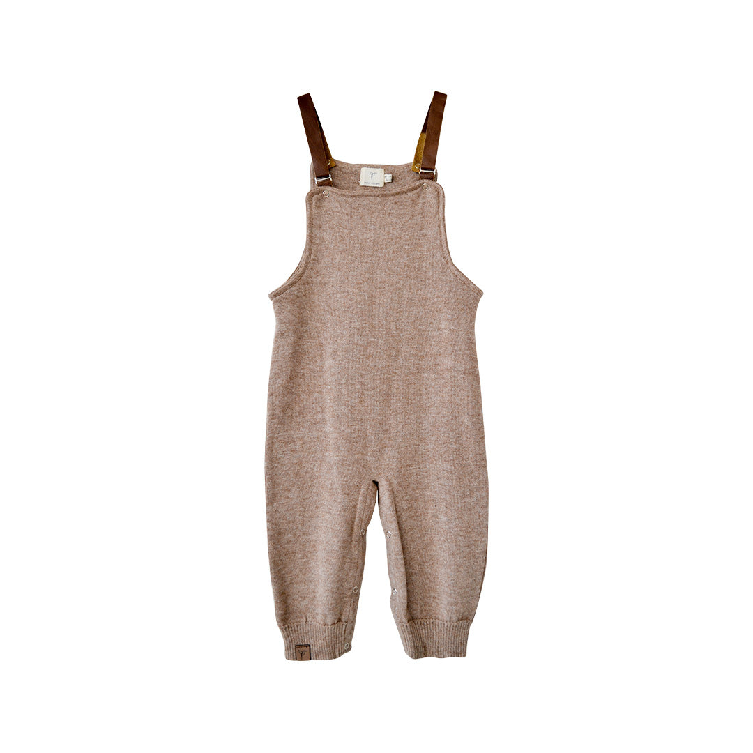 House of Little Jay | Brown Alpaca Overalls