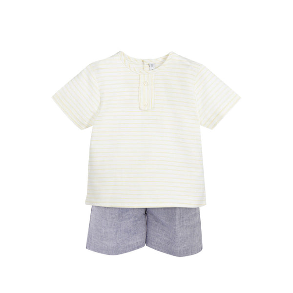 House of Little Jay | Boys Cotton Shirt and Short Set