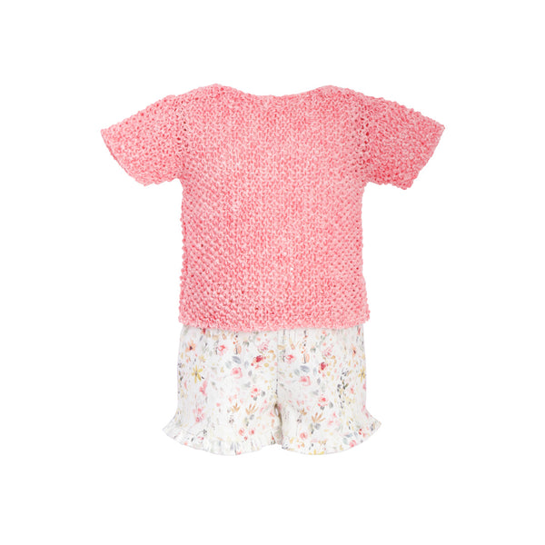 House of Little Jay | Knitted Top & Floral Shorts
