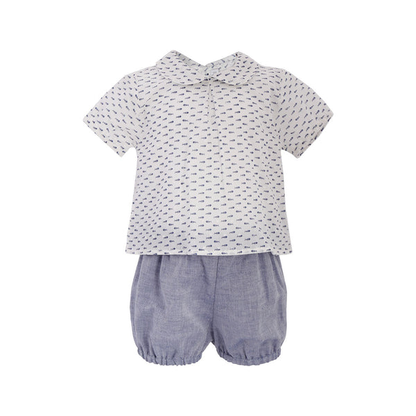 House of Little Jay | Fish Bone Top and Shorts