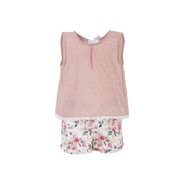 House of Little Jay | Dotted Top & Floral Shorts