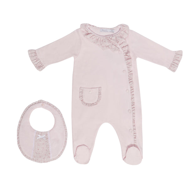 House of Little Jay | Pink Onesie and Bib
