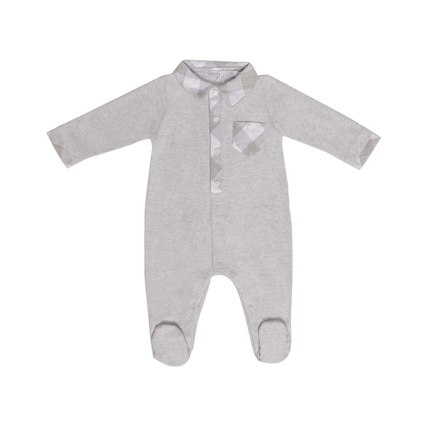 House of Little Jay | Grey Jersey Onesie