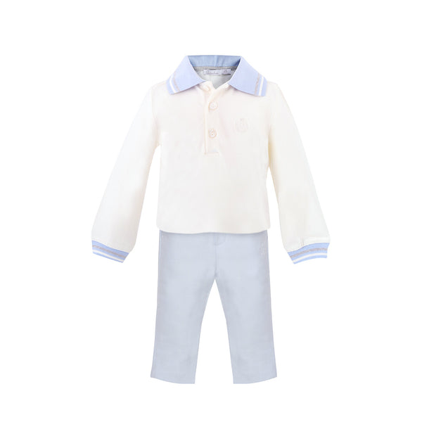 House of Little Jay | Pale Blue Polo Shirt and Pants