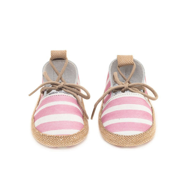 House of Little Jay | Pink White Espadrilles