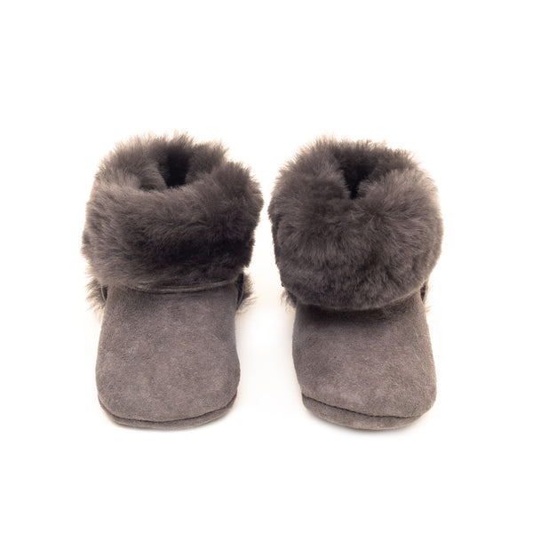 House of Little Jay | Grey Fur Booties