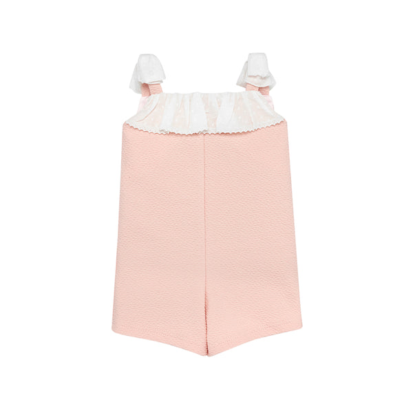 House of Little Jay | Pink & White Overall